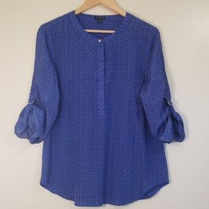 Ann Taylor 100% Silk long Sleeve Blouse